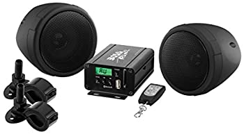 BOSS Audio Systems MCBK520B Motorcycle Speaker and Amplifier Sound System - Bluetooth Weatherproof 3 inch Speakers,