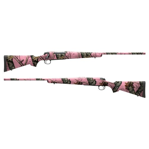 Mossy Oak Graphics - 14004-R-BUP Break-Up Pink Rifle Camouflage Gun Skin Kit - Easy to Install Precut Vinyl Wraps and Matte Finish - Rifle Kit