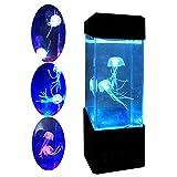 ZNN Luz Nocturna del Acuario - LED Mini Escritorio Medusa salmija Color Cambio de luz de Estado de ánimo, Alimentado por USB, Adecuado para la Sala de Estar, decoración de la Oficina y Regalos