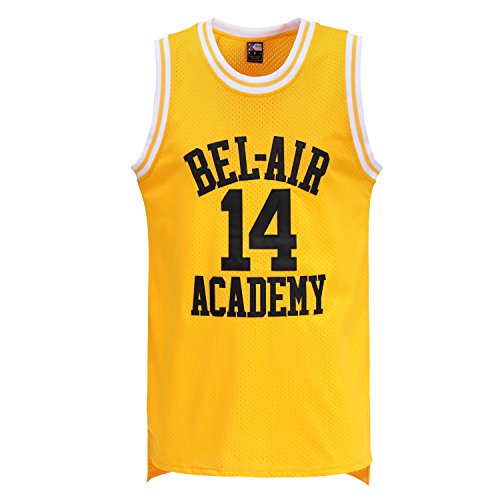 MOLPE #14 Bel Air Basketball Jersey Yellow (XL)