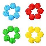 BEAUTYBIGBANG Wasserbomben Bälle Set Wasserbälle Baumwolle Spritzwasserbälle Spielzeug für...