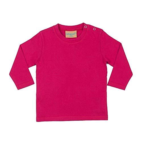 Larkwood Larkwood Baby Unisex Langarm-T-Shirt (6-12 Monate (62-74)) (Fuchsia)