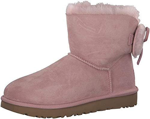UGG Damen Classic Double Bow Mini Stiefel Pink 42