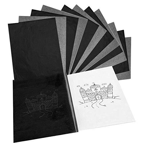 LuLyL 50PCS Carbon Transferpapier Carbonpapier Graphitpapier für Holz, Papier, Leinwand,