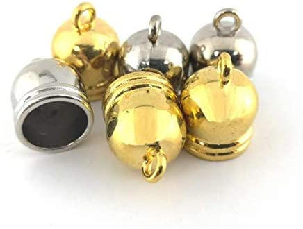 Wholesale Brass End Max 70% OFF Caps Silver Bell-Shape 16mm x of Packs 10 12 Recommended