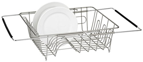 FurnitureXtra Adjustable Stainless Steel In Sink Drying Rack Over Sink Dish Drainer (Sink Drainer)