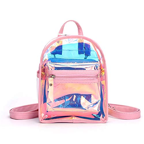 Bags for Woman Transparent Luminous Backpack Lady Cuteness Day Pack Fashion Mini Mochila Pink