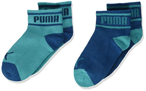 PUMA Kids' Invisible Socks (3 Pack) Calcetines, Azul Aguamarina, 19-22 Unisex bebé