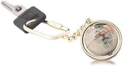 Opal Gemstone Globe Gold Keychain