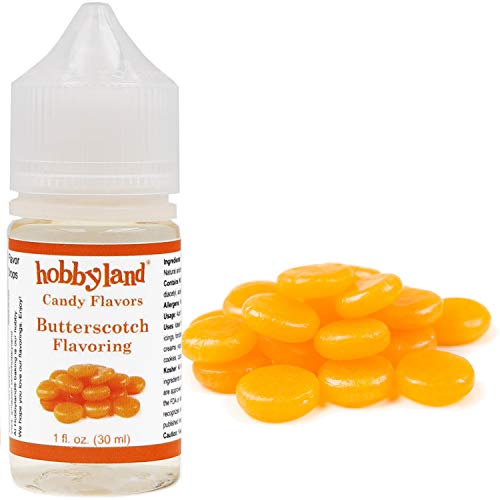 Hobbyland Candy Flavors (Butterscotch Flavoring, 1 Fl Oz), Butterscotch Concentrated Flavor Drops