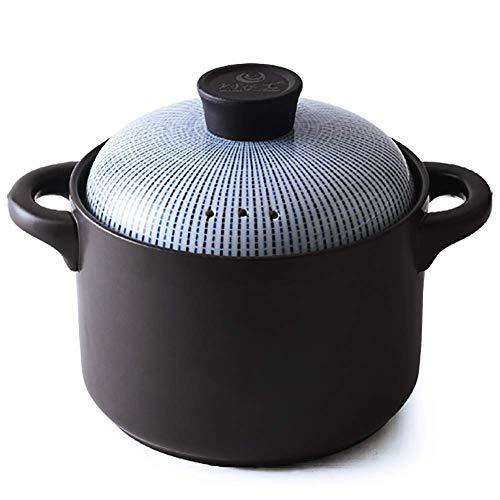 TELLMNZ Kocotte aus Keramik, für den Haushalt, Gasherd, Steintopf, Brei, kleine Schmorpfanne, B 3,5 Liter