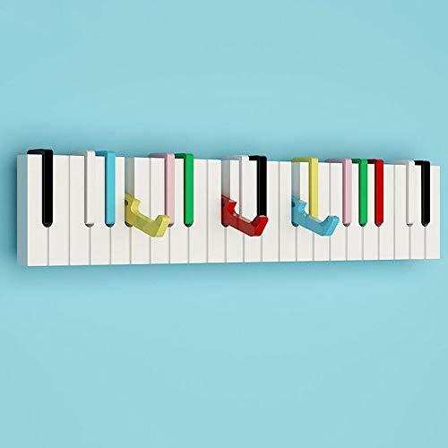 Perchero de Pared para Piano (Tablero DM, multifunción, Multicolor