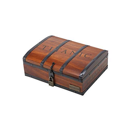 タイタニック グッズ ネックレス 「碧洋のハート」 木製宝物箱セット ブルークリスタルペンダント シルバー990チェーン付き プレゼント レディース