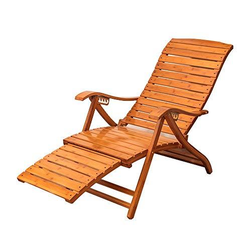 FUFU Sedie a sdraio Sedia a sdraio in legno massello, sedia a dondolo in bambù pieghevole con 6 posizioni di regolazione dello schienale per giardino all'aperto del prato per il prato per il prato per