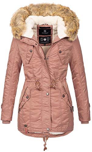 Navahoo warme Damen Winter Jacke Teddyfell Winterjacke Parka Mantel B399 (S, Terrakotta)