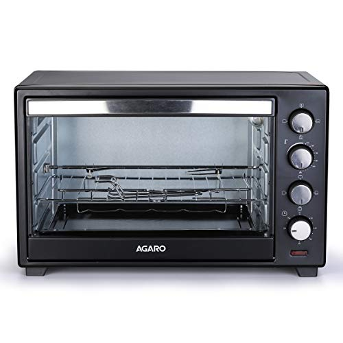 AGARO Marvel 38-Liter Oven Toaster Grill with Motorized Rotisserie, 3 Heating Modes (Black)