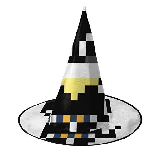 Sombrero de Halloween Persona 5 Morgana Pixel Art Sombrero de Bruja Halloween Disfraz Unisex para Vacaciones Halloween Navidad Carnavales Fiesta
