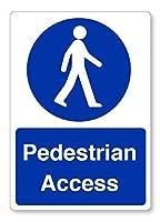 金属ティンサイン、歩行者アクセス職場健康安全、ビンテージティンサインアートの装飾のためのコーヒーオフィスプールヤード公共トイレ駐車場家の壁の装飾ヴィンテージアートポスター