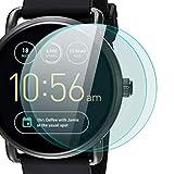 zanasta 2 Stück Schutzfolie für Fossil Q Wander 2. Generation Bildschirmschutzfolie aus gehärtetem Glas | Panzerglasfolie Smartwatch Zubehör