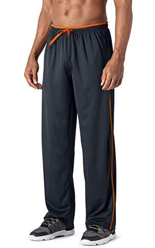 MAGCOMSEN Sweathose Herren Lange Jogging Hosen Atmungsaktiv Freizeithose Männer Quick Dry Fitnesshose Sommer Sportswear Leicht Trainingsanzug mit Meshgewebe Dunkelgrau XXL