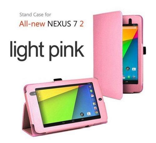 Sacchetto per Google Nexus 2 (2013) 7.0 Pollice Smart Cover Slim Case Stand Flip II. Generation (Rosa) NUOVO