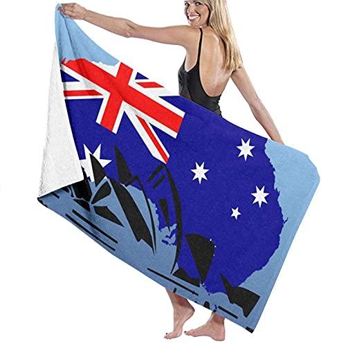 Toallas de Playa,Sydney Opera House Australia,Toallas de baño Absorbente Toallas para Uso Diario,80 x 130cm