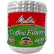 Melitta 600 Coffee Filters, Basket, Pack of 600, 8-12 Cups, White