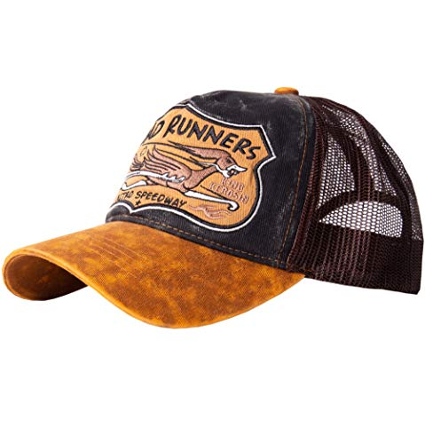 King Kerosin Herren Trucker Cap »Road Runners« Stickerei Vintage Washed Casualmode Road Runners