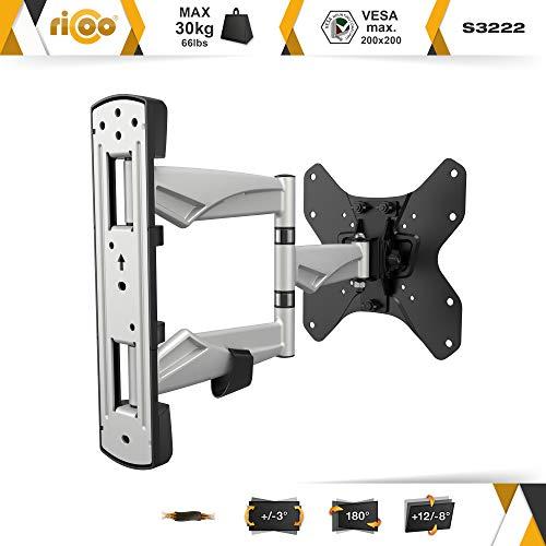 RICOO Fernseh-Halterung S3222 Flachbild-Fernseher O-LED Wohnwand LCD TV Wandhalterung Schwenkarm Flachbildschirm Fernseh-Wand-Halter VESA 200×200 - 2