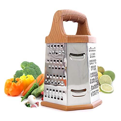 jiele Box grattugia per Cucina, 6Lati, Multiuso, Formaggio e Veggie Cutter, in Acciaio Inox con Cooking Secrets eBook