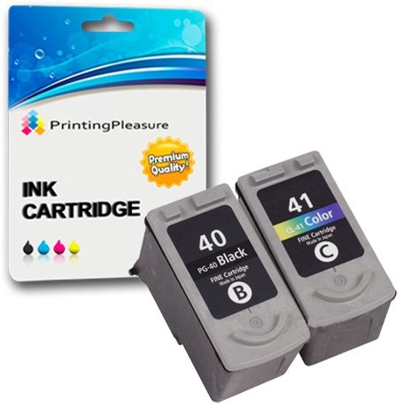 2 Druckerpatronen für Canon Pixma iP1600 iP1800 iP1900 iP2200 iP2500 iP2600 MP140 MP150 MP160 MP170 MP180 MP190 MP210 MP450 MP460 MX300 MX310 | kompatibel zu PG-40 (PG40) CL-41 (CL41)