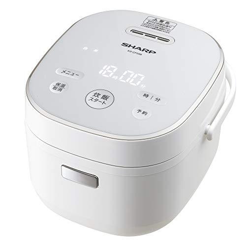 シャープ パン調理機能付き ジャー炊飯器 3合 ホワイト KS-CF05B-W