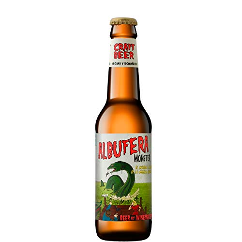 Albufera Monster Cerveza Artesanal Ecológica Y Vegana - Pack 24 Botellas de 330 ml