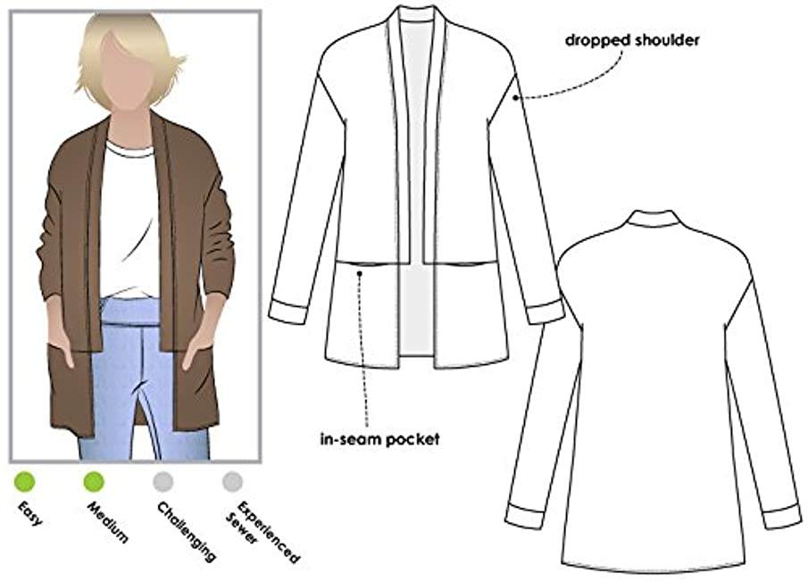 Style Arc Sewing Pattern - Coral Cardigan (Sizes 04-16) - Click for Other Sizes Available