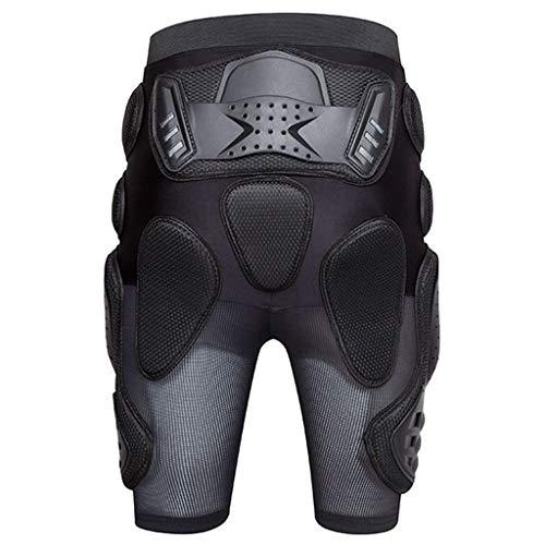 Ellyeall Gesäßschutz Atmungsaktiver Aufprallschutz Shorts Für Männer Frauen Skifahren Skaten Kurze Snowboards Motorrad Radhose Protect Hip Butt Tailbone,XXL