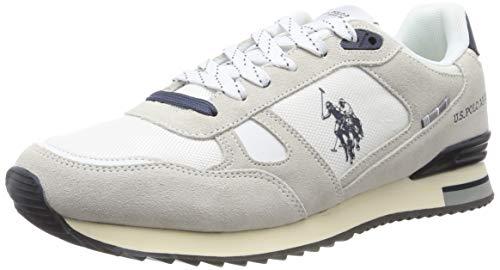 U.S. POLO ASSN. Herren Wilde1 Suede Gymnastikschuhe, Weiß (Bianco 001), 43 EU