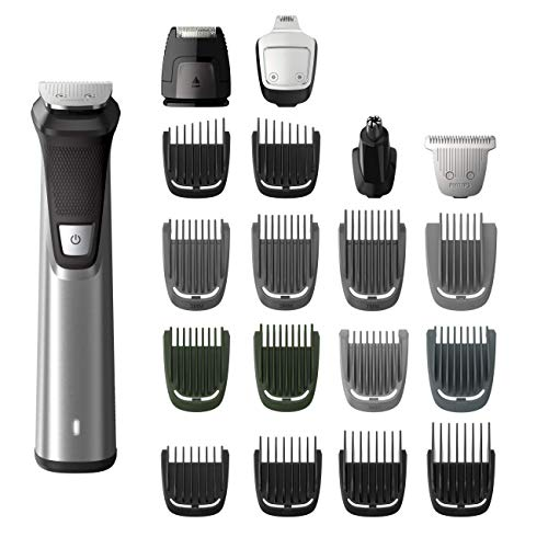 Norelco 23 Piece Multi Groomer with Electric Hair Clipper and Beard Trimmer for Beard, Body, Face, Nose and Ear Hair Trimmer, Shaver, and Clipper Attachments