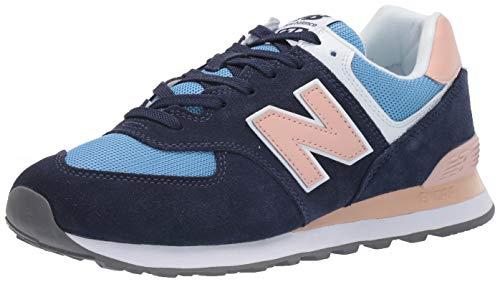 New Balance Damen 574v2 Sneaker, Blau (Navy/Pink Navy/Pink), 35 EU