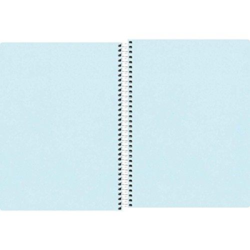 Caderno Espiral Capa Plástica 1/4 Pequeno sem Pauta, Tilibra, Neon, 147851, 14x20cm, Azul, 96 Folhas