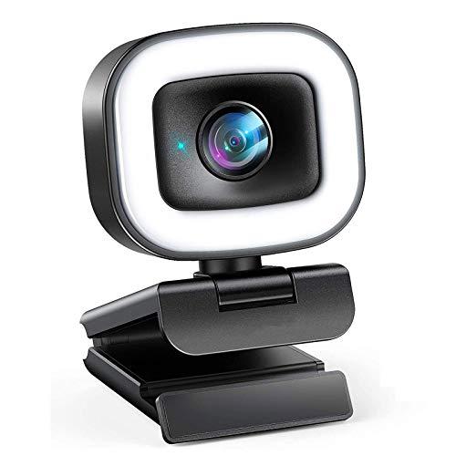 HDHUIXS Streaming Webcam, cámara Web HD de Enfoque automático y Mice Dual. Suplicable para Todo Tipo de transmisión de Red y videollamadas.