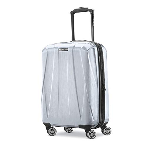Samsonite Centric 2 Hardside Expandable Luggage with Spinner Wheels, Silver, Carry-On 20-Inch