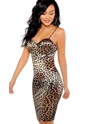 SheIn Women's Sexy Sleeveless Leopa…