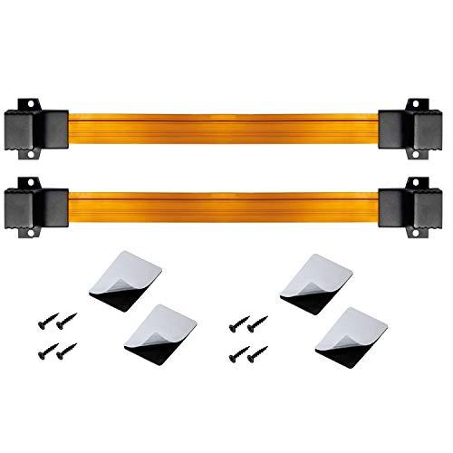ARLI RJ45 Fensterdurchführung für 2 Flachkabel Netzwerkkabel inkl. 4 Klebepads + 8 Schrauben rj 45 Buchse Netzwerk Kabel LAN Patchkabel 2 Stück