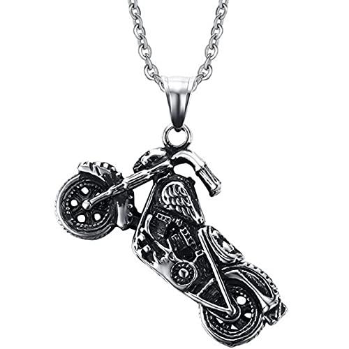 Hombres Vintage Gótico Ghost Rider Colgante Motocicleta Motocicleta Bicicleta Colgante Collar