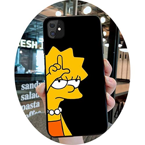 Simpson Cartoon Bart Lisa Phone Case for iPhone 12 Pro MAX Mini 11 Pro XS MAX 8 7 6 6S Plus X 5S SE 2020 XR Case,a3,For iPhone XS MAX