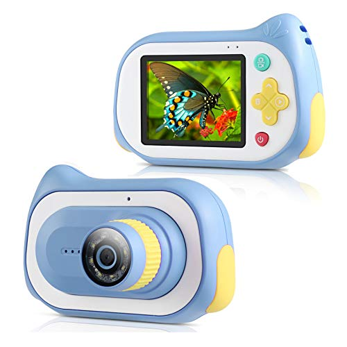 Kids Digital Camera,Koolertron Upgraded 15MP 4K Compact Starter Camera Mini Video Player Recorder & 200X Magnifier Digital Microscope 32GB TF Card for Children 3-10 Years Old Boys Girls