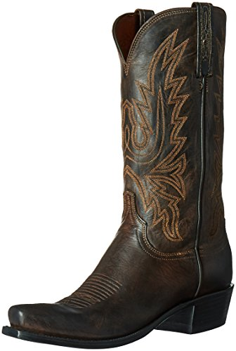 Lucchese Classics Men's Cole-ch BRN Md Goat Riding Boot, Chocolate Burnish, 9 2E US