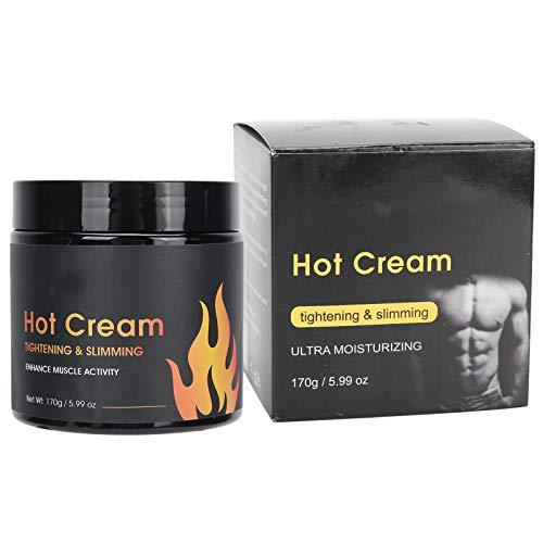 170g Crema adelgazante de celulitis grasa, Crema modeladora para adelgazar y adelgazar antiarrugas para abdomen, cintura, caderas, brazos y piernas