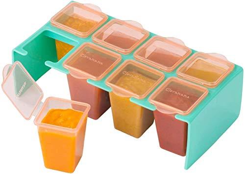 Clevamama Vasetti per Conservazione Pappa, Contenitore Porta Pappa per Freezer e Microonde