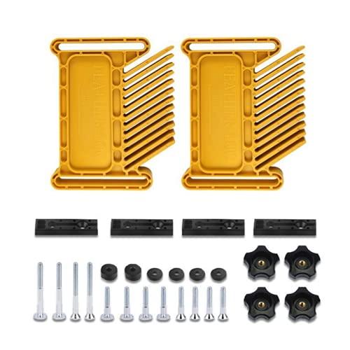 Xuqiang 2 unids nueva tabla de carpintería tableros de plumas plumas plumas de plumas para sierra de mesa enrutador mesa de banda de banda de banda de la cerca herramienta de tragamonedas de inglete H